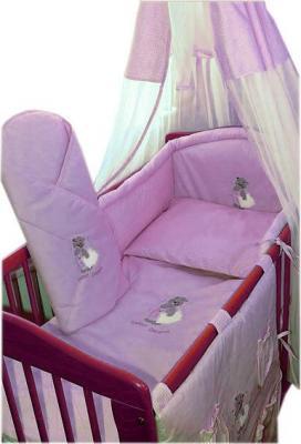 Комплект в кроватку Ankras Сладкий сон: Мишка с подушкой 3 (розовый) - балдахин в комплект не входит