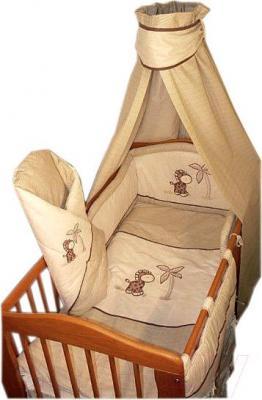 Комплект в кроватку Ankras Жирафик 6 (бежевый) - общий вид