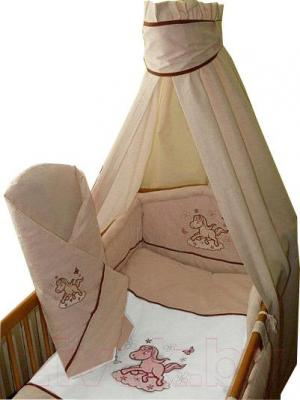Комплект в кроватку Ankras Коник 6 (бежевый) - балдахин в комплект не входит