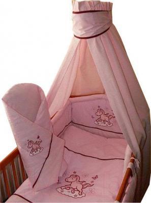 Комплект в кроватку Ankras Коник 6 (розовый) - балдахин в комплект не входит