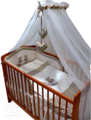 Комплект в кроватку Ankras Кролик 6 (бежевый) - балдахин в комплект не входит