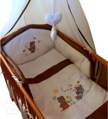 Комплект в кроватку Ankras Лето 6 (бежевый) - балдахин в комплект не входит