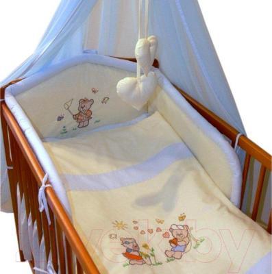 Комплект в кроватку Ankras Лето 6 (голубой) - балдахин в комплект не входит