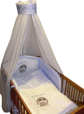 Комплект в кроватку Ankras Мой маленький друг 6 (голубой) - общий вид