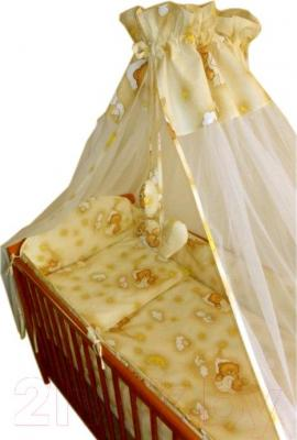Комплект в кроватку Ankras Стандарт: Мишки в гамаке 6 (желтый) - общий вид