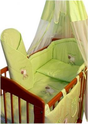 Комплект в кроватку Ankras Сладкий сон: Овечка 6 (зеленый) - балдахин в комплект не входит