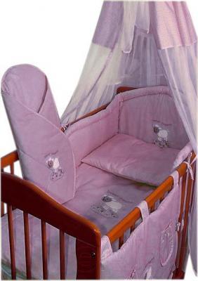 Комплект в кроватку Ankras Сладкий сон: Овечка 6 (розовый) - балдахин в комплект не входит
