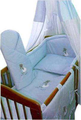 Комплект в кроватку Ankras Сладкий сон: Мишка с подушкой 6 (голубой) - балдахин в комплект не входит