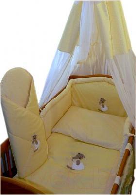 Комплект в кроватку Ankras Сладкий сон: Мишка с подушкой 6 (желтый) - балдахин в комплект не входит