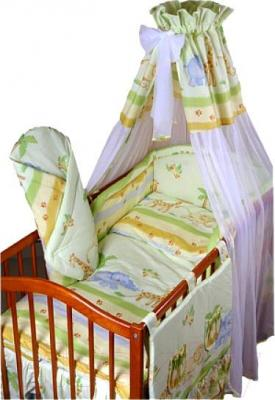 Комплект в кроватку Ankras Стандарт: Сафари 6 (зеленый) - балдахин в комплект не входит