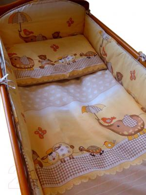 Комплект в кроватку Ankras Стандарт: Слон с зонтиком 6 (бежевый) - общий вид
