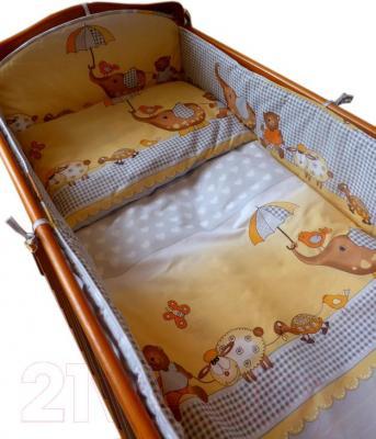 Комплект в кроватку Ankras Стандарт: Слон с зонтиком 6 (серый) - общий вид