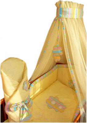 Комплект в кроватку Ankras Цветы 6 (желтый) - общий вид