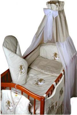 Комплект в кроватку Ankras Сладкий сон: Мишка с подушкой 6 (бежевый) - балдахин в комплект не входит