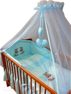 Комплект в кроватку Ankras Кролик 7 (бирюзовый) - общий вид