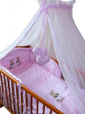 Комплект в кроватку Ankras Кролик 7 (розовый) - общий вид