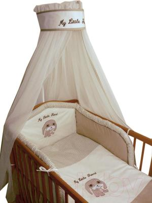 Комплект в кроватку Ankras Мой маленький друг 7 (бежевый) - общий вид