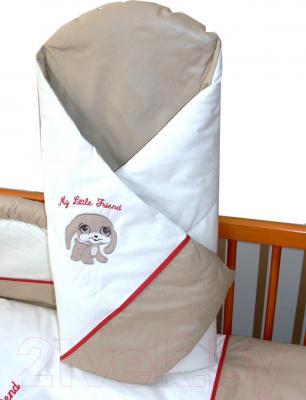 Комплект в кроватку Ankras Мой маленький друг 7 (голубой) - одеяло