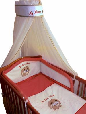 Комплект в кроватку Ankras Мой маленький друг 7 (красный) - общий вид