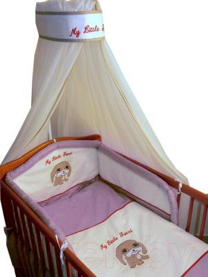 Комплект в кроватку Ankras Мой маленький друг 7 (розовый) - общий вид