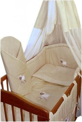 Комплект в кроватку Ankras Сладкий сон: Овечка 7 (бежевый) - общий вид