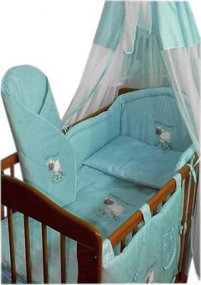 Комплект в кроватку Ankras Сладкий сон: Овечка 7 (голубой) - общий вид