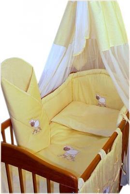 Комплект в кроватку Ankras Сладкий сон: Овечка 7 (желтый) - общий вид