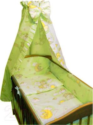 Комплект в кроватку Ankras Стандарт: Мишки на лестнице 7 (желтый) - общий вид