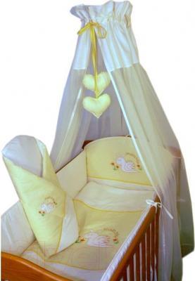 Комплект в кроватку Ankras Улитка 7 (желтый) - общий вид