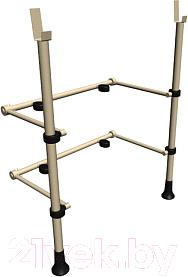 Стойка для штанги Карусель ДСК ВО.92.23 (белый антик-золото) - общий вид