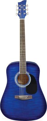Акустическая гитара Jay Turser JJ45F-BLSB - общий вид