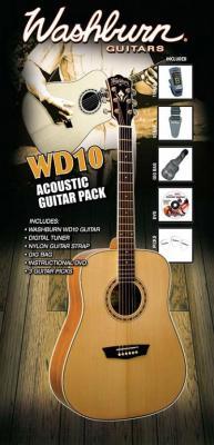Акустическая гитара Washburn WD10PACK - комплектация