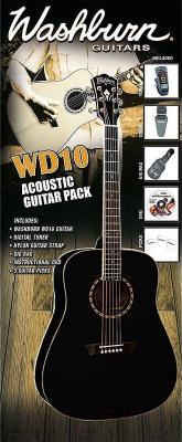 Акустическая гитара Washburn WD10BPACK - комплектация