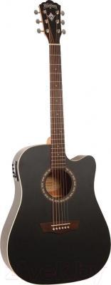Электроакустическая гитара Washburn WD7SCEBM - в открытом виде