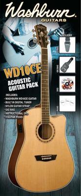 Электроакустическая гитара Washburn WD10CEPACK - комплектация