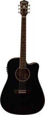 Электроакустическая гитара Washburn WD10CEB - общий вид