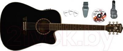 Электроакустическая гитара Washburn WD10CEBPACK - комплектация