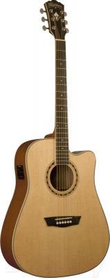 Электроакустическая гитара Washburn WD10SCENS - общий вид