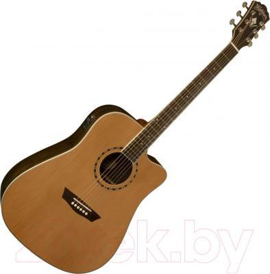 Электроакустическая гитара Washburn WD11SCE - в открытом виде