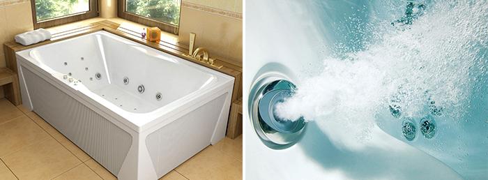 ванны с гидромассажем и аэромассажем