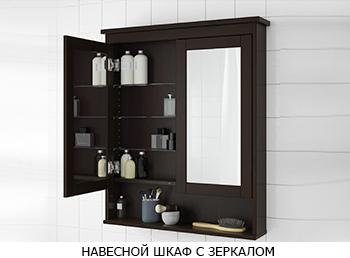 Навесной шкаф с зеркалом
